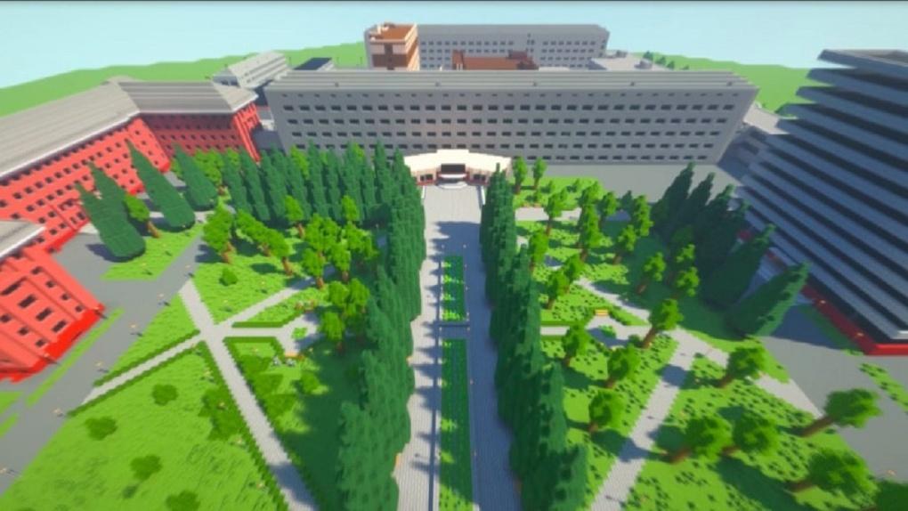 Новосибирские студенты воссоздали виртуальную копию НГТУ в Minecraft
