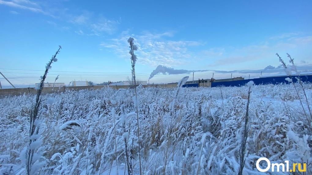 До -37 градусов. На Омск надвигаются сильнейшие морозы