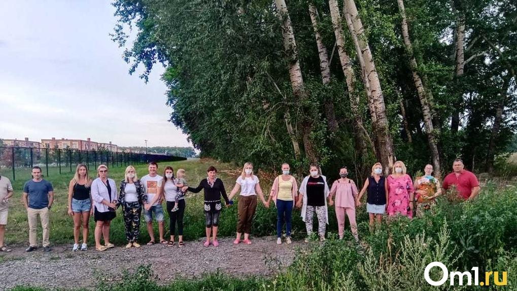 Власти ответили на протест жителей новосибирского посёлка, где идёт борьба за защиту тополиной рощи