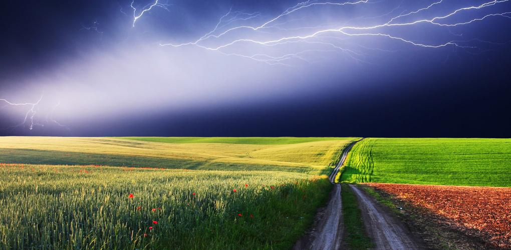 В селе под Омском молния убила велосипедиста
