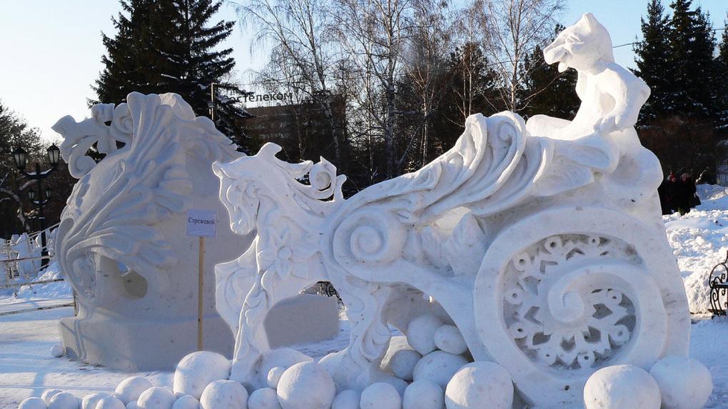 Новосибирск готовится к XX Фестивалю снежной скульптуры
