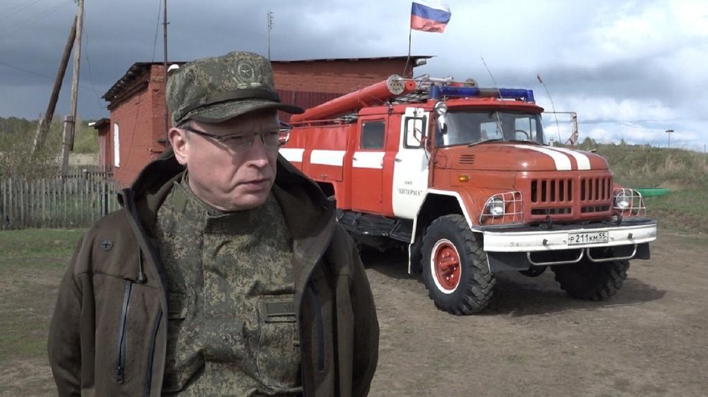 Бурков посетил подверженные лесным пожарам территории и оценил подготовку пожарных частей к сезону
