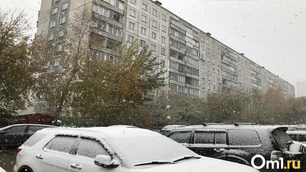 Мощный снегопад обрушился на Новосибирск