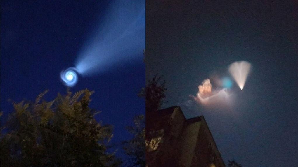 В небе над Омском появилось необычное свечение