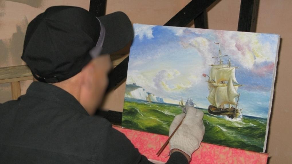 В Омске заключенные скопировали картины Айвазовского