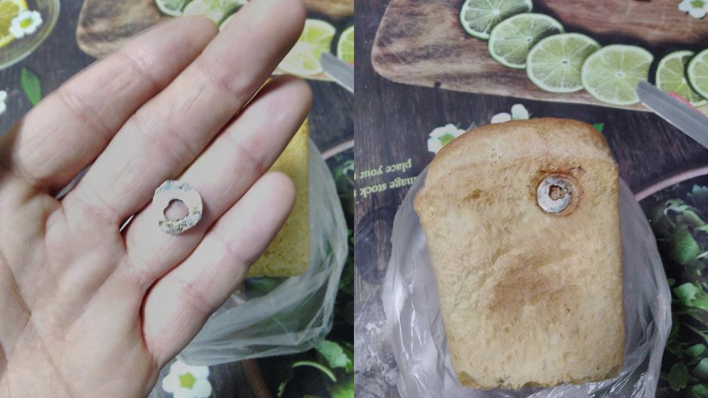 Новосибирец нашел странный предмет в булке хлеба