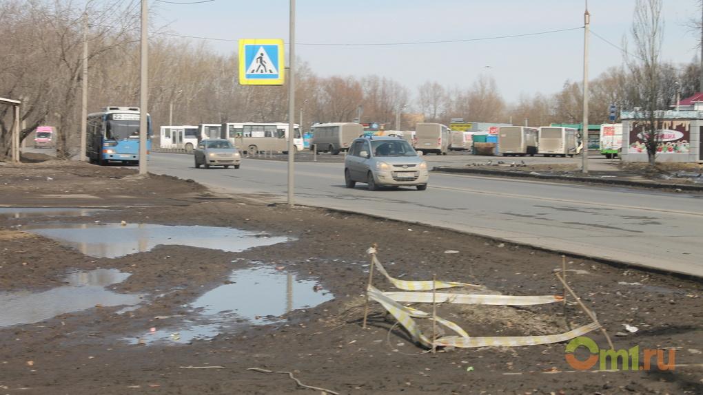 В Омске дали научное объяснение появлению трещин на дорогах: «Ну, вот так получилось»