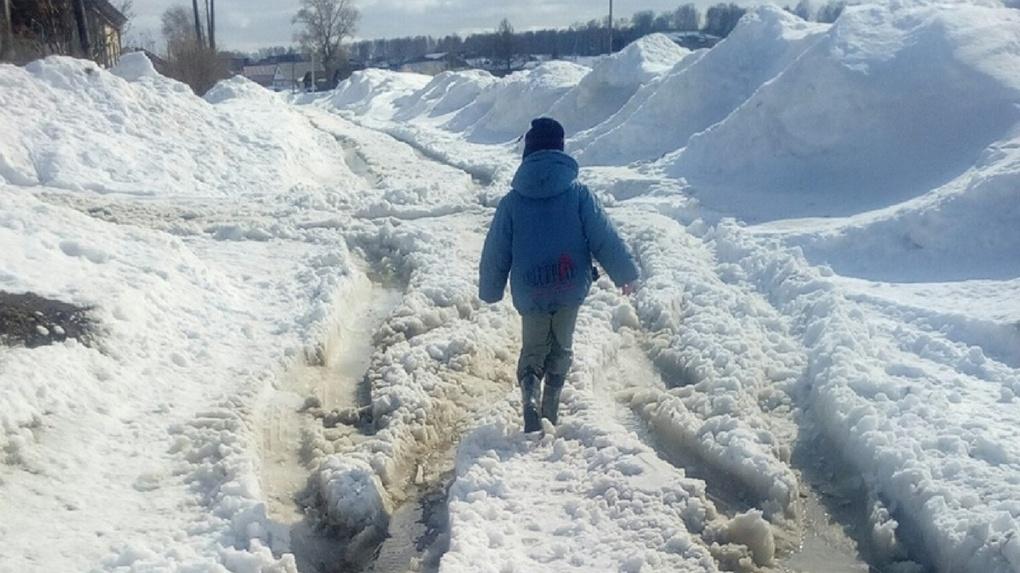 Под Новосибирском поселок оказался отрезанным от внешнего мира из-за таяния снега