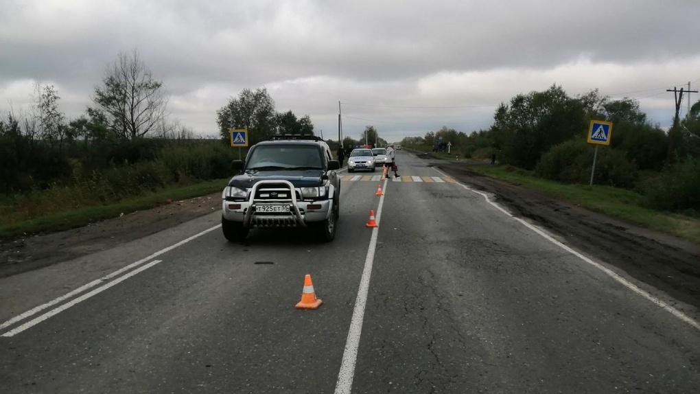 В Омской области автомобиль сбил пенсионерку на пешеходном переходе