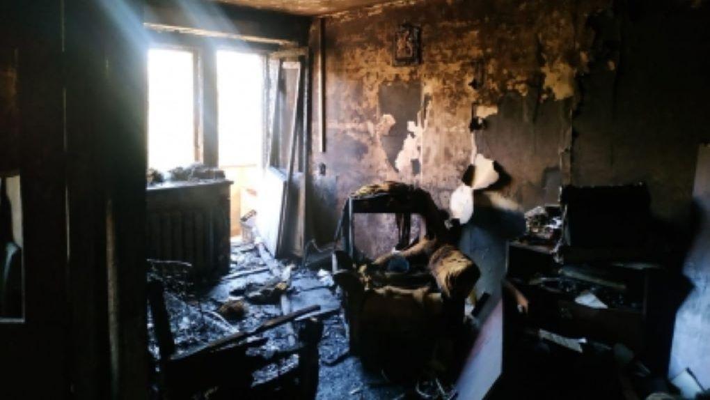 Новосибирец погиб при пожаре в квартире