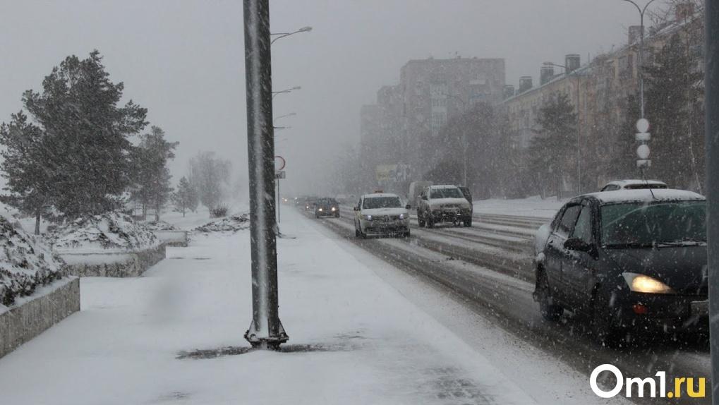 На Омск обрушился многодневный снегопад