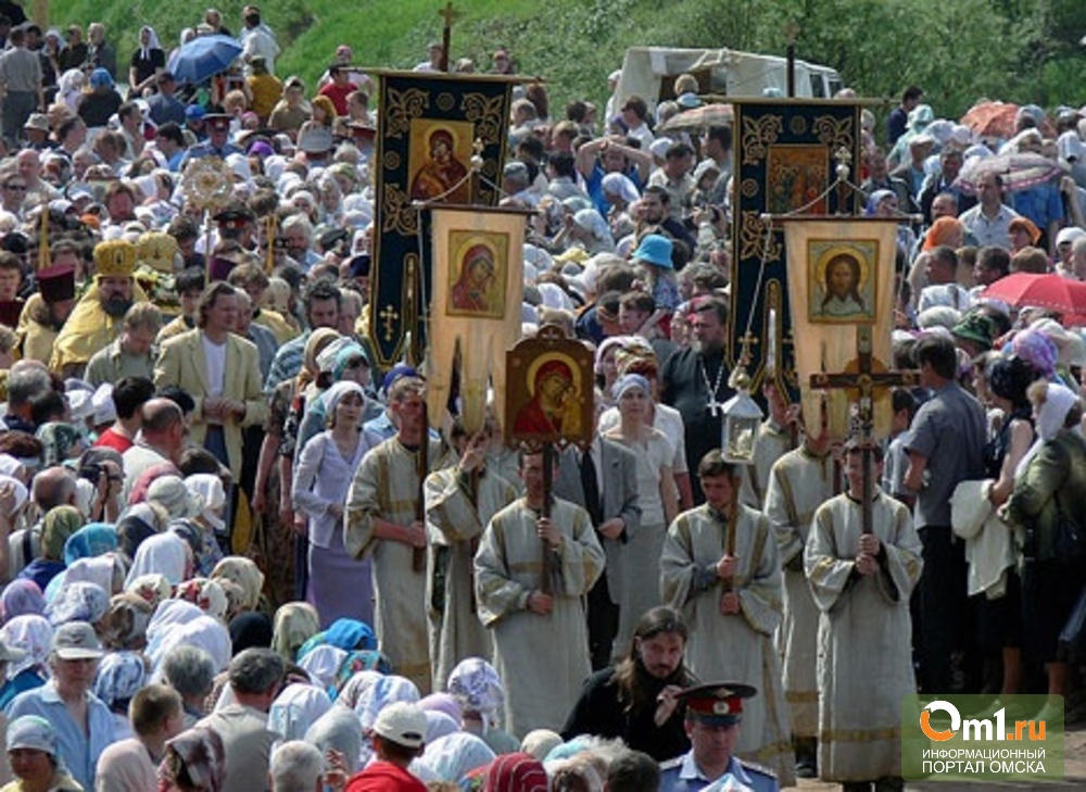 В воскресенье центр Омска перекроют из-за Крещения Руси