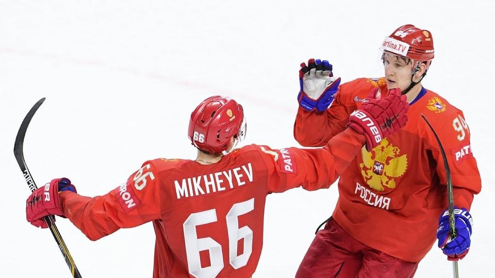 Нападающий «Авангарда» Михеев забросил на чемпионате мира вторую шайбу