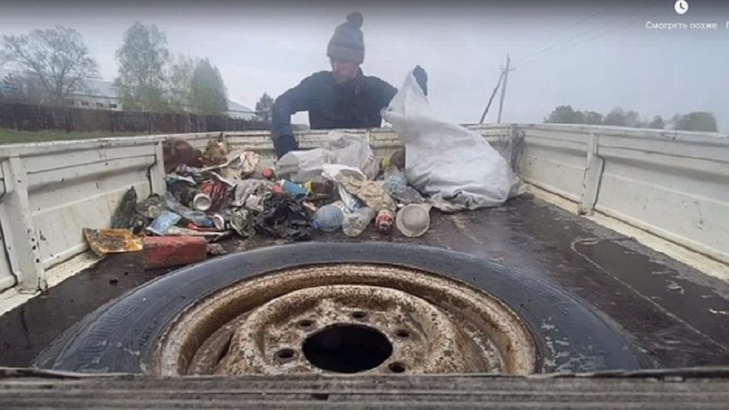 Экоблогер из Новосибирска в шоке от соседей, которые превратили зеленую зону в кладбище мусора