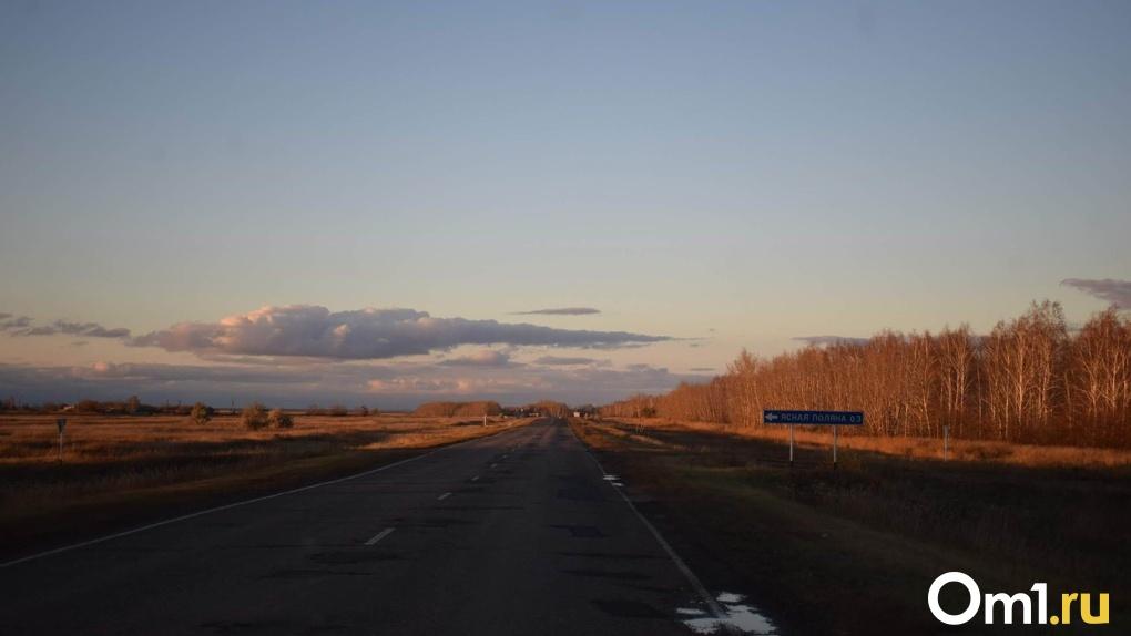В Омской области портрет усопшей девушки выбросили на трассе