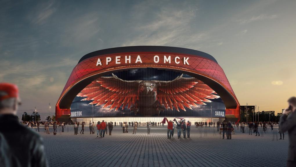 Строительство «Арены Омск» сняли с воздуха