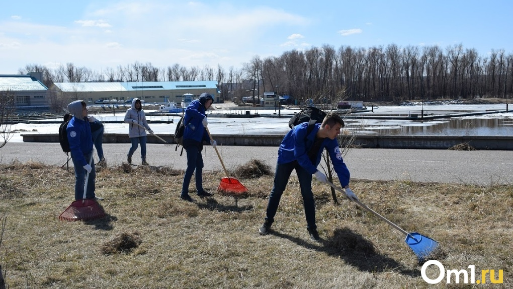Несмотря на режим самоизоляции, в Омске начался месячник чистоты. Кого отправят убирать город?