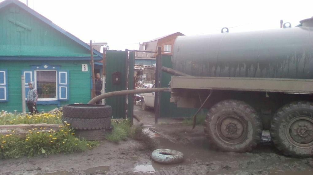 В мэрии Омска отреагировали на потоп в Немецком поселке
