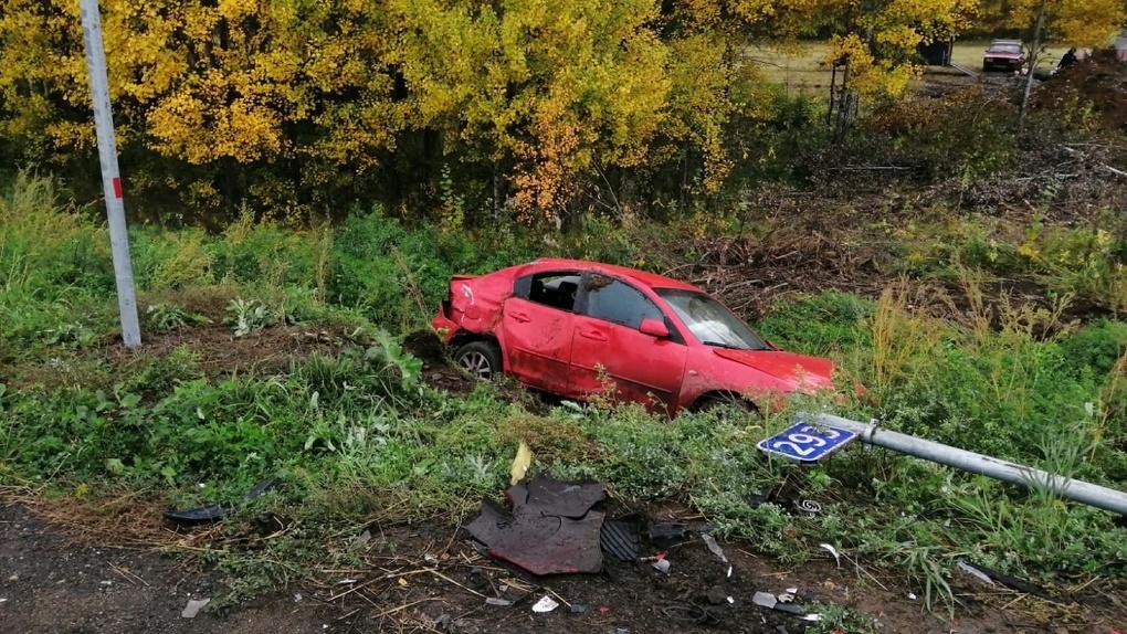 На трассе Омск – Тара насмерть разбилась пенсионерка