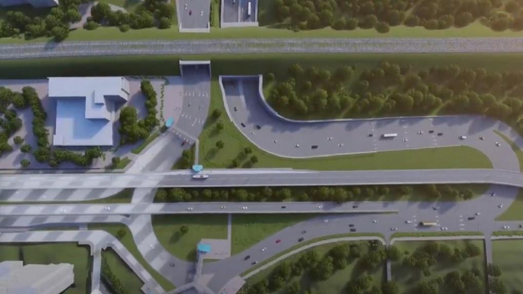 Новые развязки на площадях Труда и Энергетиков в Новосибирске показали на видео