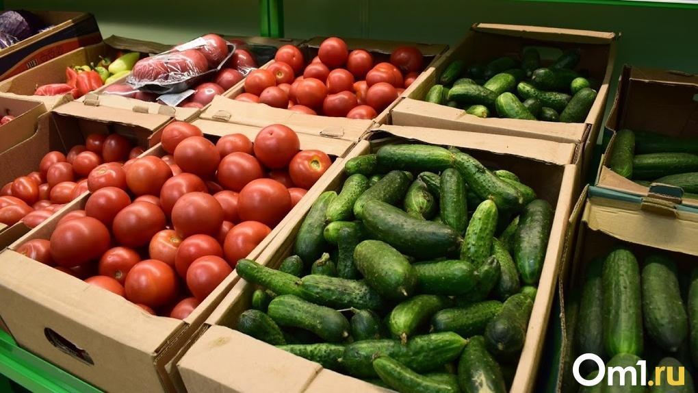 Огурцы и помидоры в Омске значительно подешевели за неделю