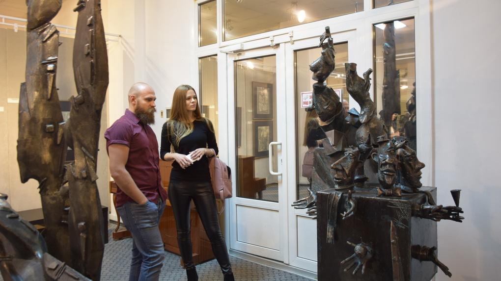 В Омске открылась выставка «железного скульптора». ФОТОРЕПОРТАЖ