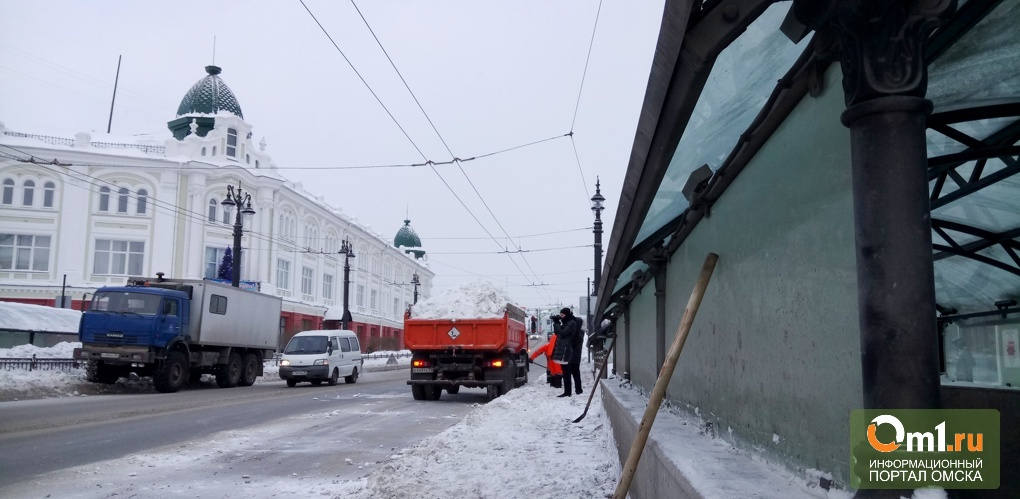 Омск будут очищать от снега самосвалы с черными ящиками
