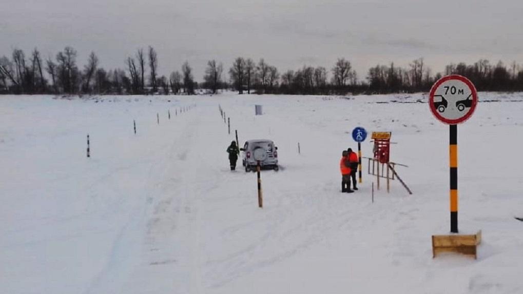 В Омской области заработали все девять ледовых переправ