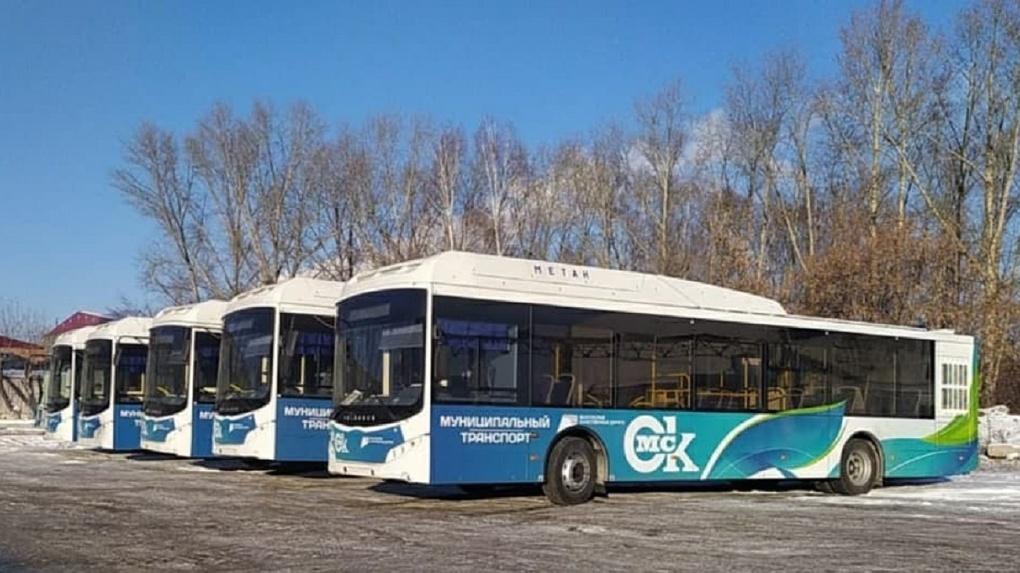 В Омск привезли первую партию больших и экологичных автобусов