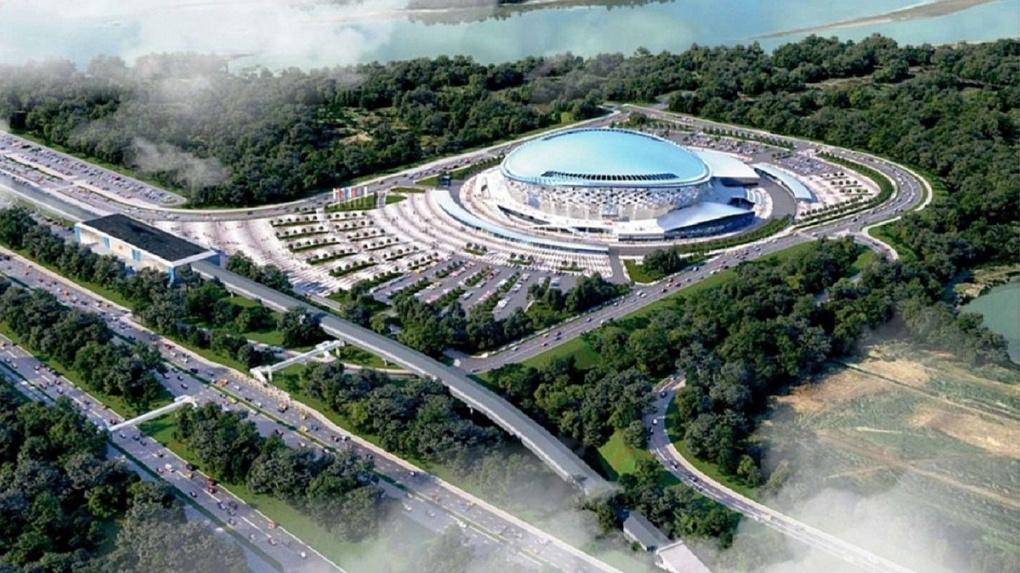 На 3,5 миллиарда рублей застраховали стройку новой ледовой арены в Новосибирске