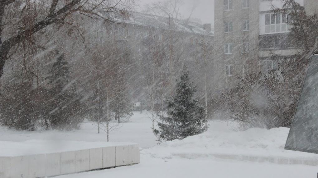 В Омск пришли аномальные снегопады
