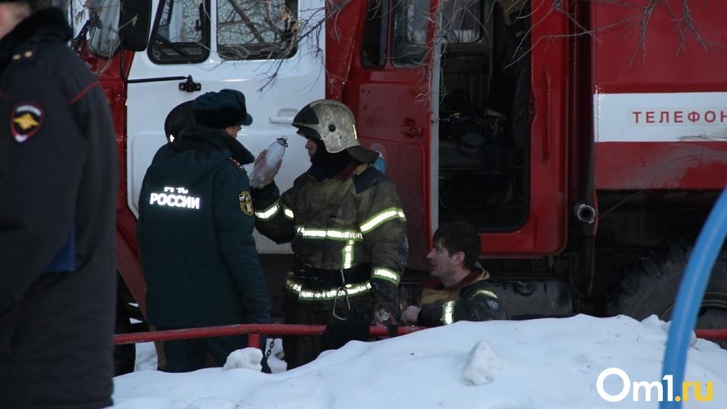 Двухлетние братья-близнецы погибли на пожаре в Омске, пока отец был на работе