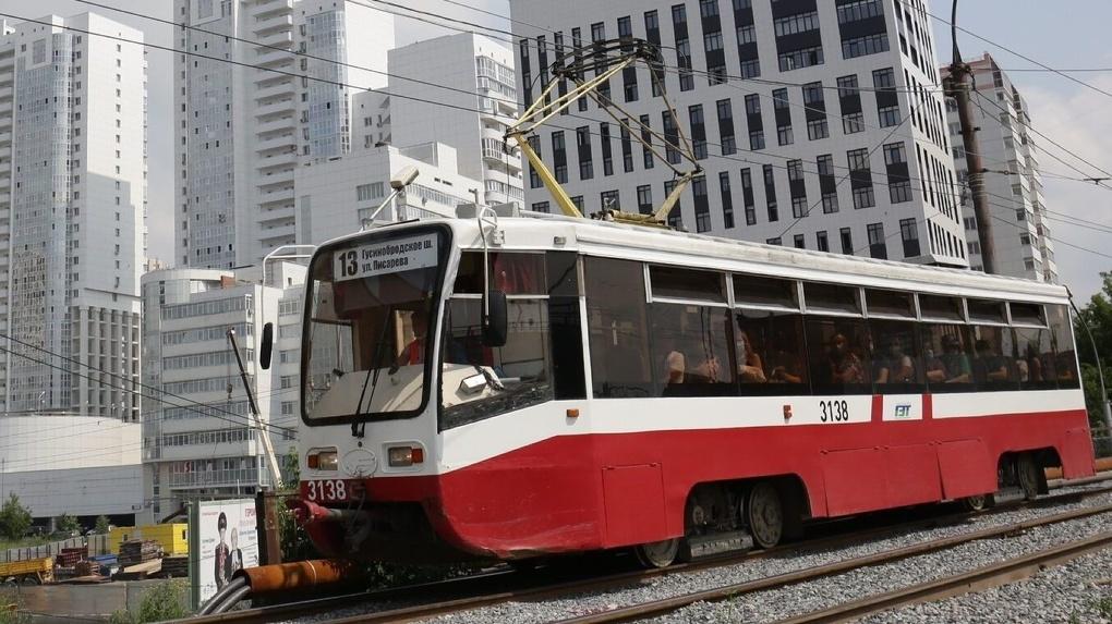 Новый трамвай за 18 миллионов рублей пустили по левому берегу Новосибирска