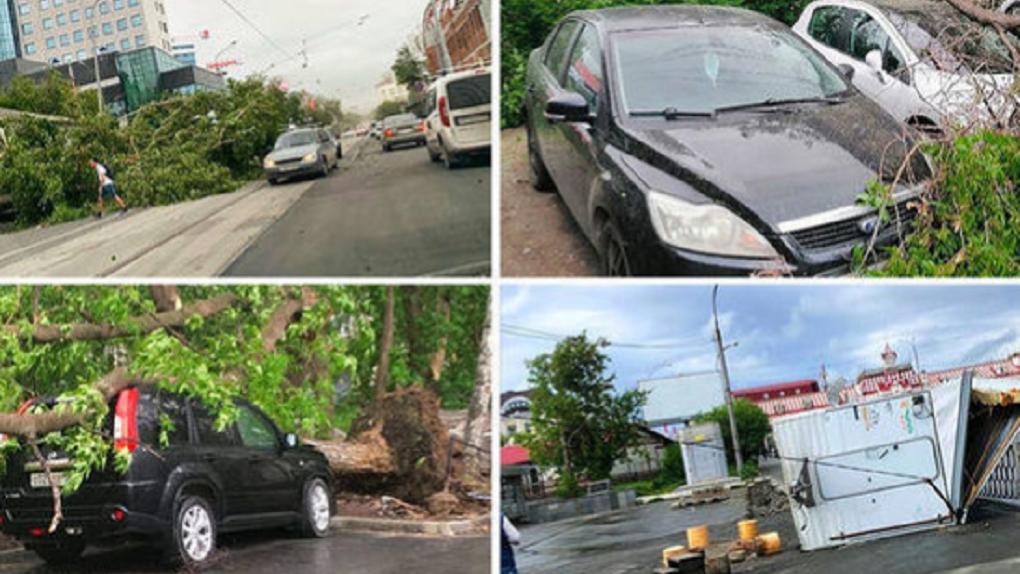 Разрушительный уральский ураган несется в Новосибирск