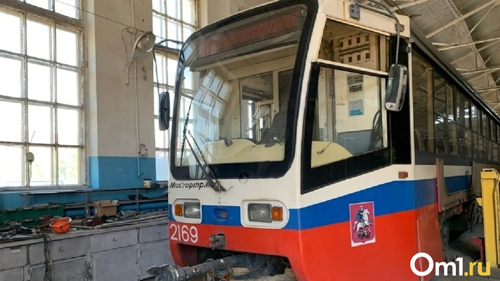 В Омск привезли ещё три списанных трамвая из Москвы