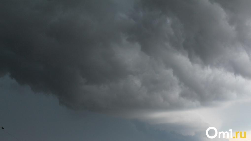 Штормовой ветер надвигается на Новосибирск