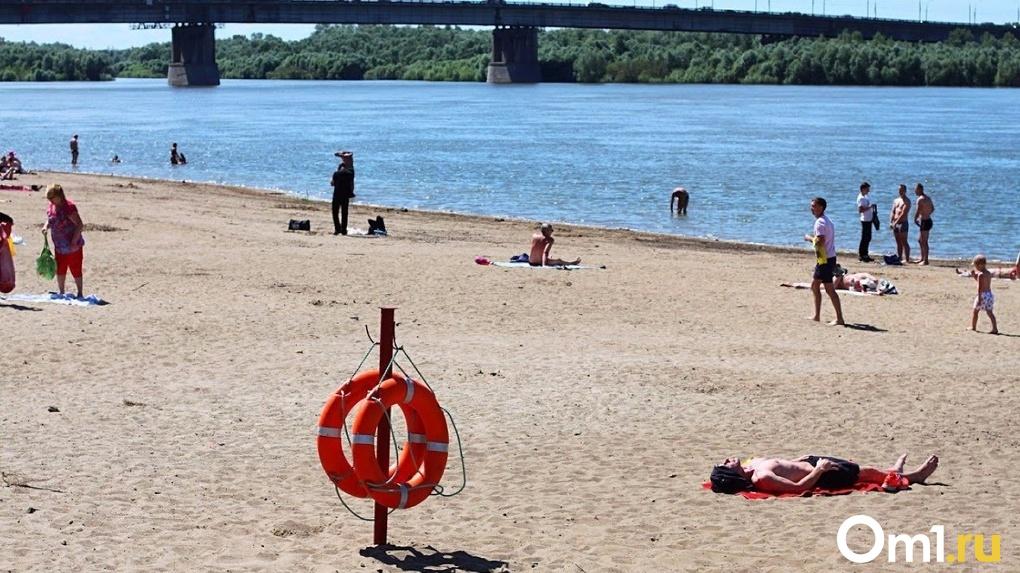 В Омске собираются открывать городские пляжи