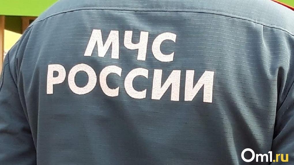 В Омске передняя часть маршрутки выгорела дотла