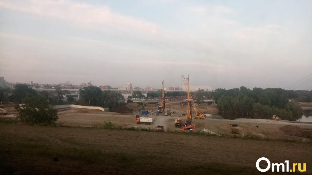 В Новосибирске возводят первую опору четвертого моста