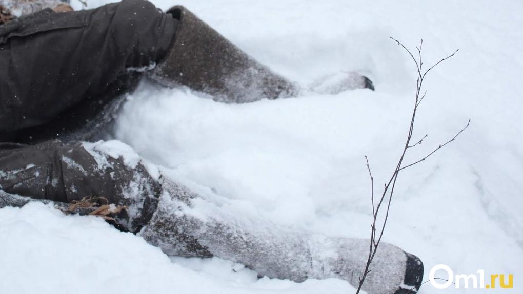 Омичка замёрзла насмерть с бутылкой алкоголя