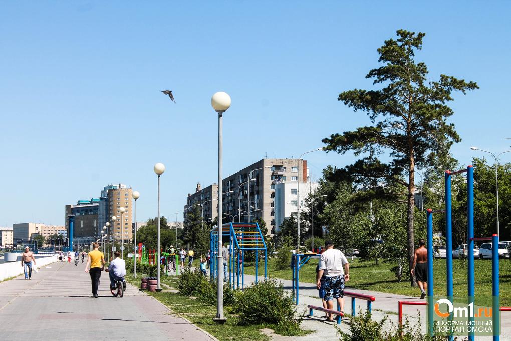 Территория здоровья: на Иртышской набережной появились новые тренажеры