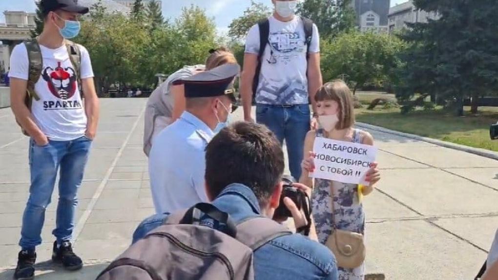 Троих новосибирцев задержали после серии одиночных пикетов в поддержку Фургала