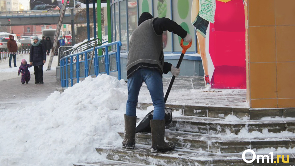 Омичам предложили чистить снег на улицах вместо того, чтобы делать селфи в качалке