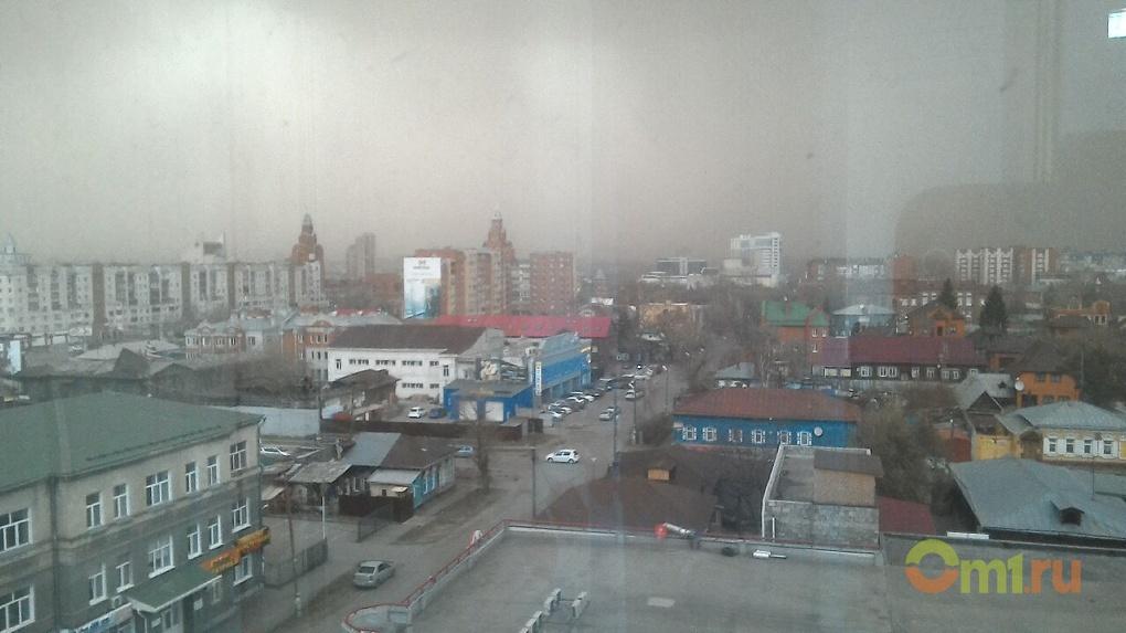 Сильный ветер сохранится в Омске до конца дня
