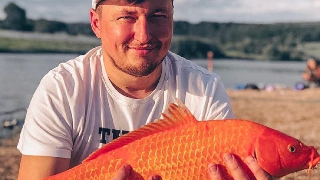 Новосибирец поймал золотую рыбку