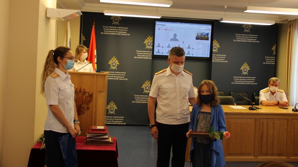 Новосибирская школьница получила благодарность от Следственного комитета за спасение человеческой жизни