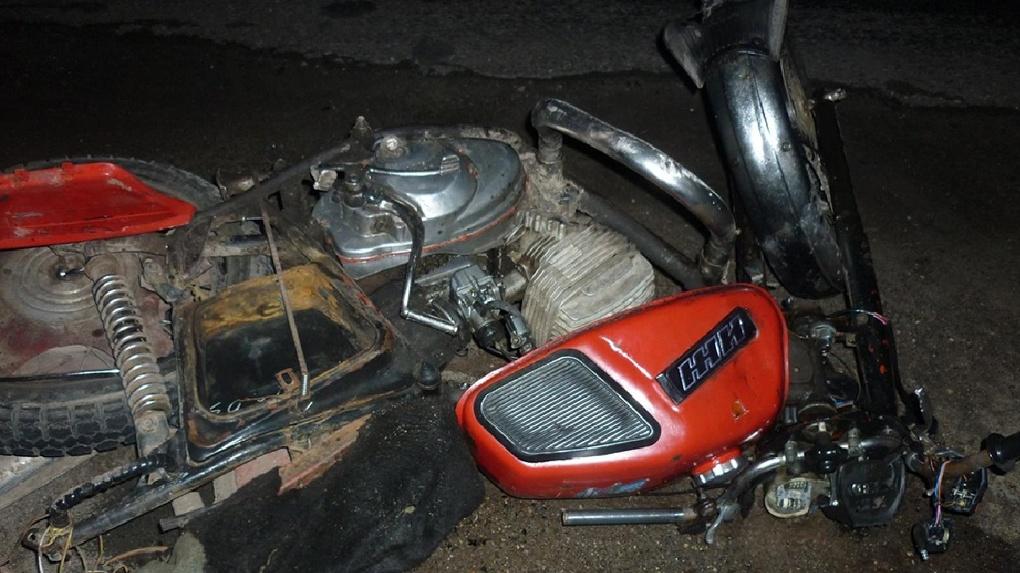 В Омской области ВАЗ врезался в пенсионера на мотоцикле