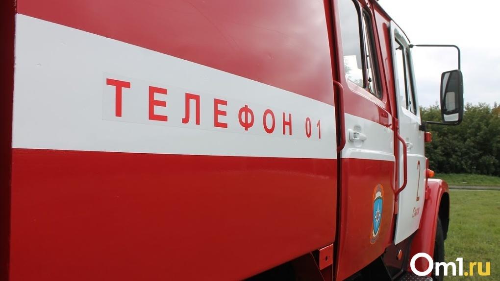 Крупный пожар на СТО в Омске тушили более 60 пожарных