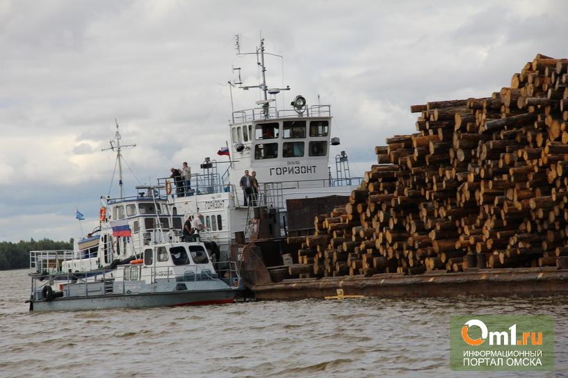 В омске мужчина попал под баржу на резиновой лодке