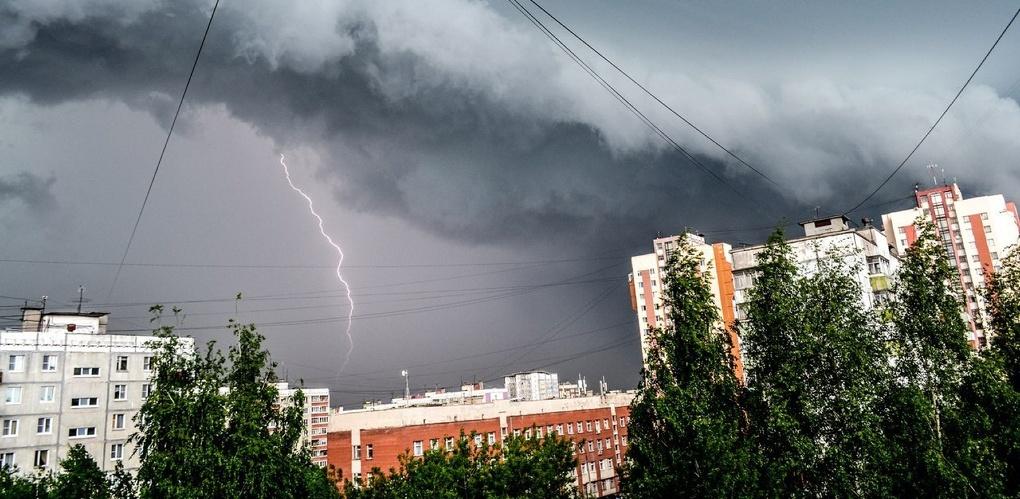 Завтра в Омской области прольётся сильный дождь с градом